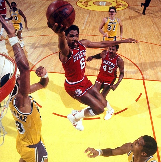 Moses Malone predicted his 76ers would sweep every series in the 1983 playoffs. He was close. The 76ers went 12-1 in the postseason, but did sweep the Lakers in the finals. Julius Erving and Malone each averaged more than 20 points per game in bringing the title to Philadelphia.