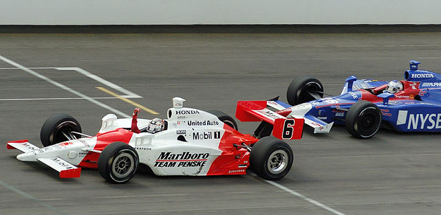 In 2006, Sam Hornish Jr. scored his only victory in the race by passing 19-year-old Marco Andretti just 200 yards from the checkered flag. The Team Penske driver gathered up enough speed when he needed it most, winning by just .0635-seconds -- the second-closest finish in Indy 500 history.
