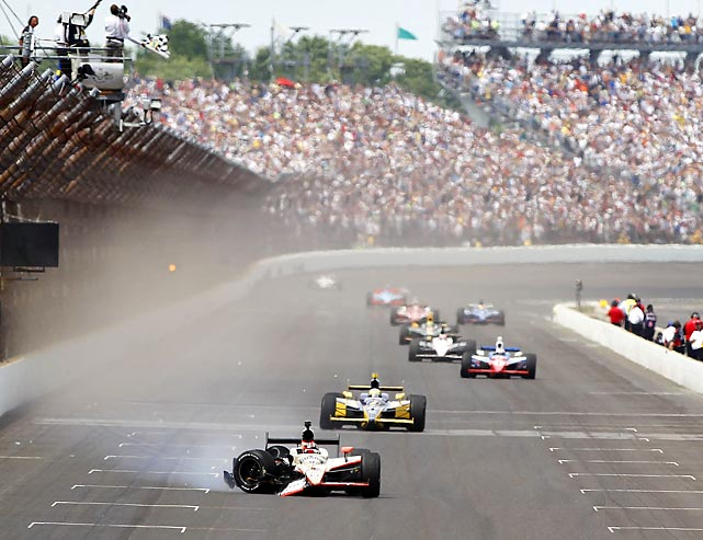 On the 100th anniversary of the Indianapolis 500, an unlikely American rookie found himself with the lead down the stretch: J.R. Hildebrand. With one lap to go it looked as though Hildebrand would become the first rookie since Helio Castroneves (2001) to win the Indy 500. But Hildebrand collided with the wall on the final turn of the final lap, allowing Dan Wheldon to win his second Indy 500 crown. It was the last win of Wheldon's racing career as he died tragically in an accident at Las Vegas later in the year.