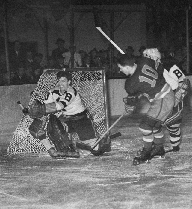 "The Bruins goalie known as ""Mr. Zero"" for his stinginess in net was crucial to the club's run to two Stanley Cups in three seasons. The Hall of Famer was backstopped Boston's 1939 and 1941 title teams, and won a pair of Vezina trophies during his career. He spent nine seasons with the Bruins and posted a winning record in all but one."