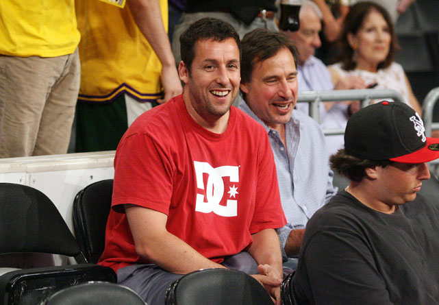 Happy Gilmore was at Game 2 of the Lakers-Mavericks series.