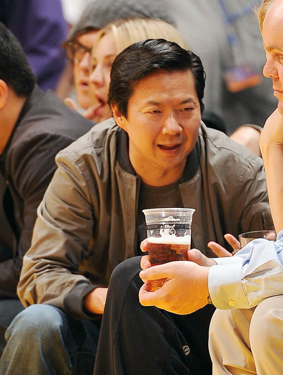 "Mr. Chow of ""The Hangover"" fame attended the Lakers' first-round series against the Hornets."