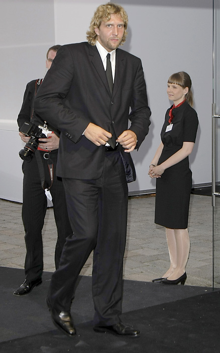 Nowitzki attends the Audi centennial celebration at the Audi Forum in Ingolstadt.