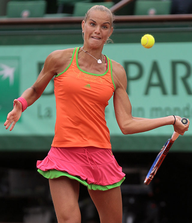 Arantxa Rus, currently ranked 114th in the world, saved two match points against Kim Clijsters before rallying for the victory.