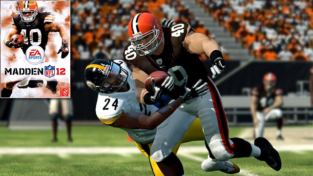 EA decided to let fans vote for the cover athlete for the first time in the history of the Madden franchise. The starting bracket featured one player from every team in the league. Fans voted the final four down to Aaron Rodgers, Adrian Peterson, Michael Vick and Peyton Hillis. Hillis beat out the rest, avoiding some potentially bad PR had Vick emerged victorious in the final round.   We congratulate Mr. Hillis on his improbable victory and hope that he's able to avoid the famous  Madden cover curse , or at least not end up on our fantasy football teams if he doesn't.   Madden 12 is scheduled for an August 30 release on the Xbox 360, PS3, Wii, PS2 and PSP.