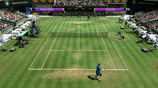 Virtual Tennis returns with a robust career mode and plenty of big-name tennis stars like Rafael Nadal, Roger Fedrerer, Andy Murray and others. The centerpiece of VT4 is the World Tour career that takes you around the globe as you work your way up through the ATP rankings and into major tournaments. In this mode you'll play singles and doubles tournaments, mini-games and briefly handle other off-court activities. As you advance your created character's skill levels increase, but early on your player isn't that good and neither is the no-name competition.  Virtua Tennis 4 is among the first games to offer Kinect, Move and Wii MotionPlus play support. The Kinect version alters the more traditional elevated perspective and puts you in the action with a net view. During play you see just the racket, which you control by swinging your arm in a normal motion. Lateral movement is handled for you, though you can control your movement to the net or away from it. The experience is more immersive, but it's undeniably easier to play longer and get more done with a standard controller.  The graphics and audio are pretty solid across the board from the player creation mode to game play. Multiplayer matchmaking is handled smartly so you're able to find competition suited to your skill level.  Score: 8 out of 10