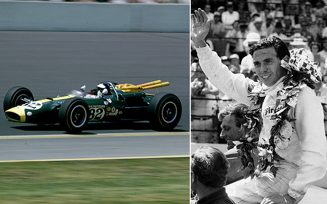 In the first Indy 500 televised by ABC and one of the few Indy 500s actually contested on Memorial Day, Jim Clark became the first foreigner in 49 years to win the race. He led 190 of the 200 laps.