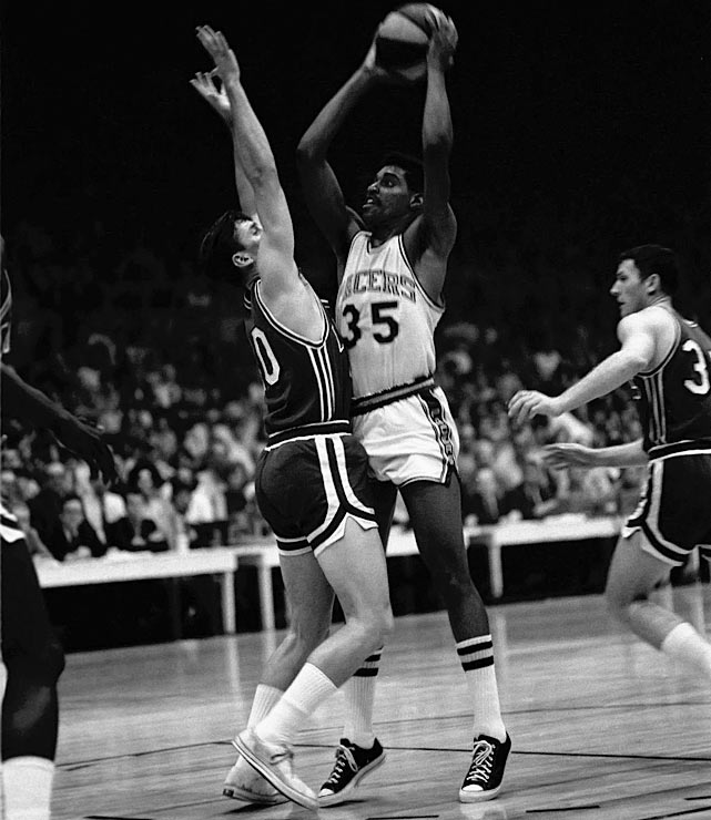 The Indiana Pacers, after finishing the regular season with an ABA-best 59-25 record, won the league title by completing a four games to two series victory over the Los Angeles Stars. Roger Brown led the team by averaging 32 points and 10 rebounds per game during the finals, while Mel Daniels was a first-team All-ABA choice.