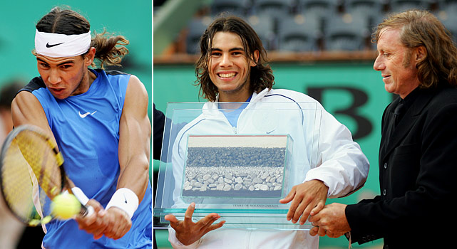 Rafael Nadal earned his record-setting 54th straight win on clay on Memorial Day 2006. His win over Robin Soderling broke a tie with Guillermo Vilas.