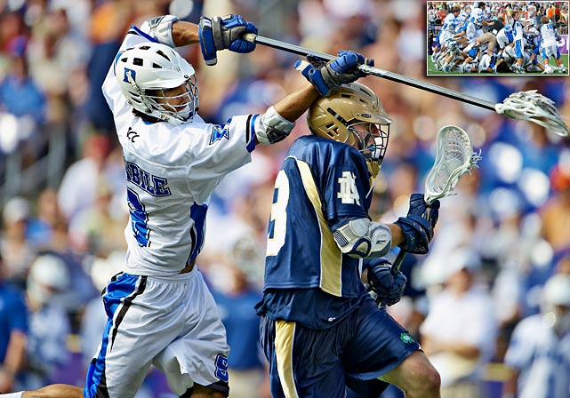 The NCAA men's lacrosse championship has been a mainstay on Memorial Day for years. Duke won its first title in 2009 as C.J. Costabile scored five seconds into sudden-death overtime to give the school a 6-5 victory over Notre Dame. Duke was the eighth school to take the national championship since the tournament began in 1971. Loyola made it nine schools in 2012. (Syracuse has the most, with 10).