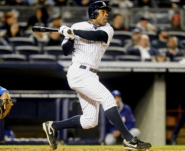 Experts predicted Granderson's home run totals would benefit from playing at Yankee Stadium, but in his first year with New York, the outfielder hit homers at nearly the same rate as during his time with the Tigers. This season, though, Granderson was tied for the lead in the majors with 21 home runs as of June 17, on pace to smash his career best of 30.
