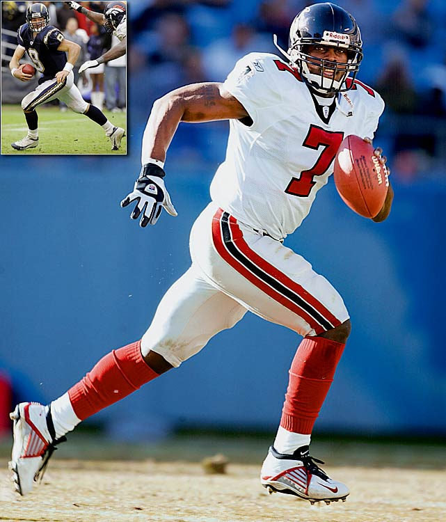 #1: Michael Vick (Virginia Tech), Atlanta Falcons It is worth noting that Drew Brees (Purdue) was selected by the San Diego Chargers with the first pick of the second round (32nd overall) in a draft with only 31 teams. Had the Texans entered the NFL a year sooner, Brees could have been a first-round pick.