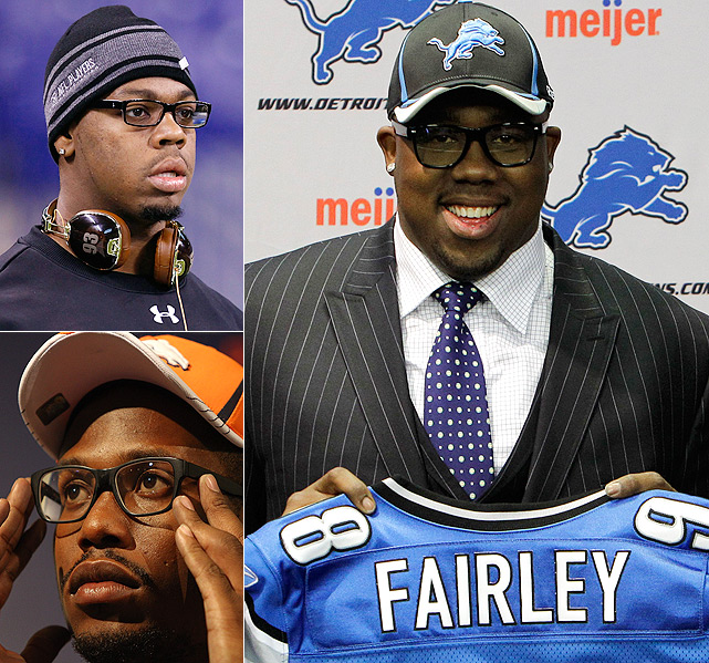 With no football in their future, football players have shifted their focus to fashion. SI.com found some of the most popular trends developing this offseason. ---- The nerdy look is back! Whether it was at the combine (Da'Quan Bowers), the draft (Nick Fairley) or an introductory press conference (Von Miller), NFL rookies showed there's never a wrong time to break out the black-framed spectacles.