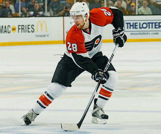 Drafted by the Flyers 22nd overall in 2006, Giroux was first known mostly for GM Bobby Clarke's inability to remember his name while announcing his selection. The swift-skating winger didn't reach Philly to stay until 2008, and after showing promise in 42 regular-season games (9 goals, 27 points, plus-10) as a rookie, the 20-year old Giroux had two goals and five points in six postseason matches against the eventual Cup-champion Penguins. The following season, after scoring 16 goals and 47 points in 82 games, he fully blossomed in the spring. His shootout goal against the Rangers on the final day of the regular season put the Flyers in the playoffs where he scored 10 goals and 21 points, had huge first-round series vs. the Devils, and helped Philly reach the Stanley Cup Final.