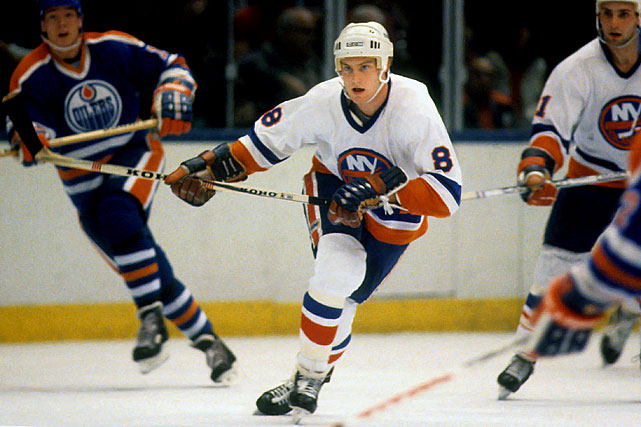 Overshadowed by his more flashy rookie teammate Pat LaFontaine (who had the more impressive brief regular season tune-up after the duo joined the Islanders off Team Canada and Team USA respectively), the tenacious, hard-working Flatley helped power the weary, battered team's drive for a fifth successive Stanley Cup. The checking winger, (a first round pick in 1982), scored nine goals and 15 points as the Isles reached the Stanley Cup Final, where they ultimately fell to Wayne Gretzky's Oilers in five games. LaFontaine would go on to reach the Hockey Hall of Fame, but Flatley enjoyed a very solid 14-year career in the NHL.