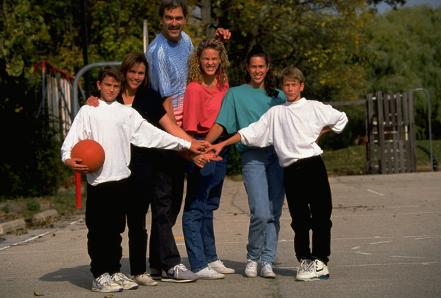 The Jackson family -- (from left) Charley, June, Phil, Chelsea, Brooke and Ben -- are true sports.
