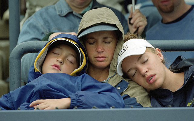 An entire family used the stands of Arthur Ashe Stadium as their bed during the 2002 U.S. Open.