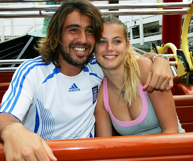 The French model was reportedly introduced to Baghdatis by her stepfather, who is the tennis player's coach. There are mixed reports as to whether the pair is still dating.