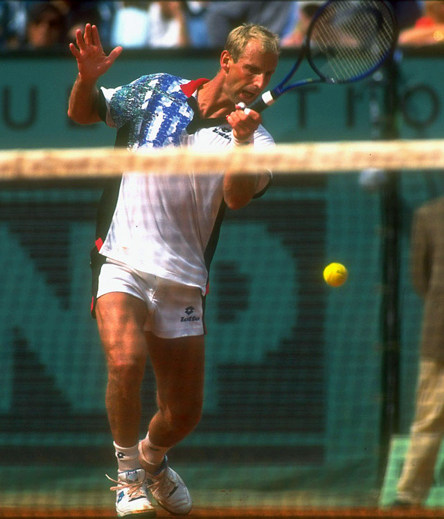 Known best for his play on clay, the Austrian had his best season in 1995. Beating Michael Chang for the French Open title -- his only Grand Slam -- marked the highlight of Muster's streak. Before going off for 35 straight wins, all on clay, Muster had lost four straight matches, none on clay.  In all, Muster made 14 finals in 1995 and won 12 of them (11 clay).