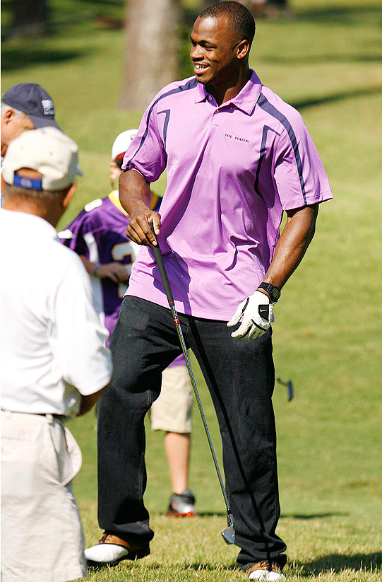 Vikings running back Adrian Peterson played in the event, but only after losing a bet on a game of H-O-R-S-E during a recent Nike outing in Las Vegas, according to the Orlando Sentinel