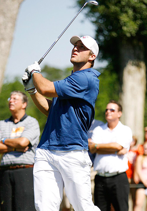 Broncos quarterback and University of Florida icon Tim Tebow returned to the Sunshine State over the weekend to host his first celebrity golf tournament. The event took place at the TPC Sawgrass Dye's Valley Course in Ponte Vedra Beach and drew around 1,000 spectators. The tourney benefitted the Tim Tebow Foundation, which assists underprivileged children, and featured several names known in the football community.