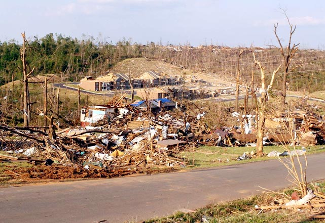 Another shot of the aftermath in Tuscaloosa.