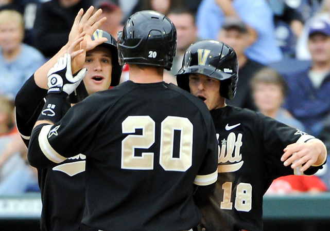 Taylor Hill and Corey Williams combined on four-hitter, Connor Harrell and Curt Casali homered and Vanderbilt ousted North Carolina from the College World Series. The Commodores' reward is another game against SEC rival Florida, which has beaten them in four of five meetings this season.