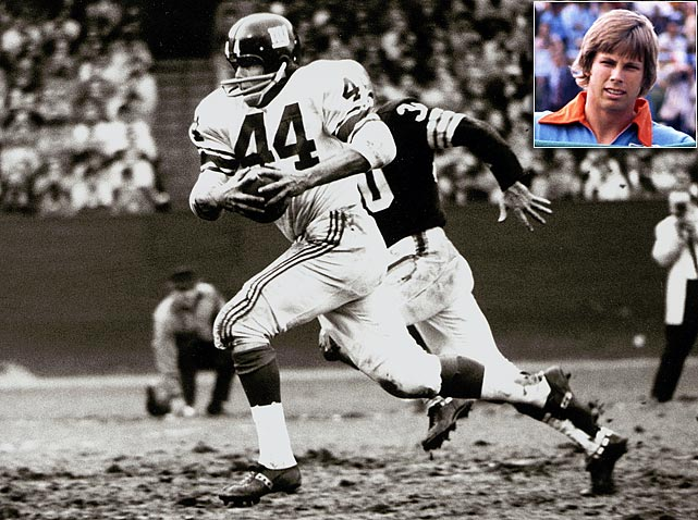 "The first overall pick in the 1951 NFL Draft, Kyle Rote played in four Pro Bowls and four championship games with the New York Giants. Kyle Jr. chose shin guards instead of shoulder pads and dribbled his way into the National Soccer Hall of Fame. He was dubbed ""The Great American Hope"" for a then unpopular sport in America."