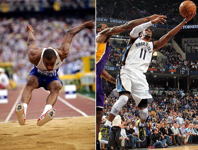 Mike Conley, Sr. won gold in the triple jump at the 1992 Summer Olympics in Barcelona. His son was drafted 4th overall in the 2007 NBA Draft and continues to play point guard for the Memphis Grizzlies.
