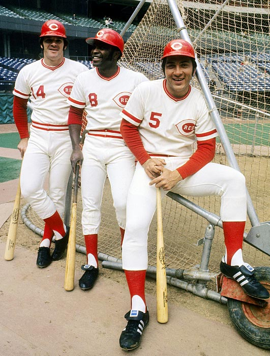 "From 1970 to 1976, Cincinnati averaged 98 wins per season and won four pennants and two World Series titles (1975 and 1976). The 1976 team featured the ""Great Eight"" starting position players of Johnny Bench, Pete Rose, Joe Morgan, Tony Perez, Dave Concepcion, George Foster, Ken Griffey and Cesar Geronimo. Some consider that lineup to be the best lineup ever. When the ""Great Eight"" started together, the team had a .784 winning percentage."