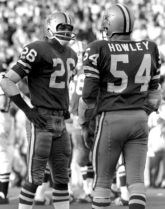 The Dallas Cowboys' defense earned its nickname as it keyed a run to five Super Bowls between 1971 and 1979 (including wins in 1972 and 1978). The unit may never have been better than in the 1972 title run. It held its three playoff opponents to a combined 18 points, including a 24-3 win over Miami in the Super Bowl. The original Doomsday Defense was led by cornerbacks Herb Adderley, Mel Renfro and linebackers Chuck Howley, Dave Edwards and Lee Roy Jordan.