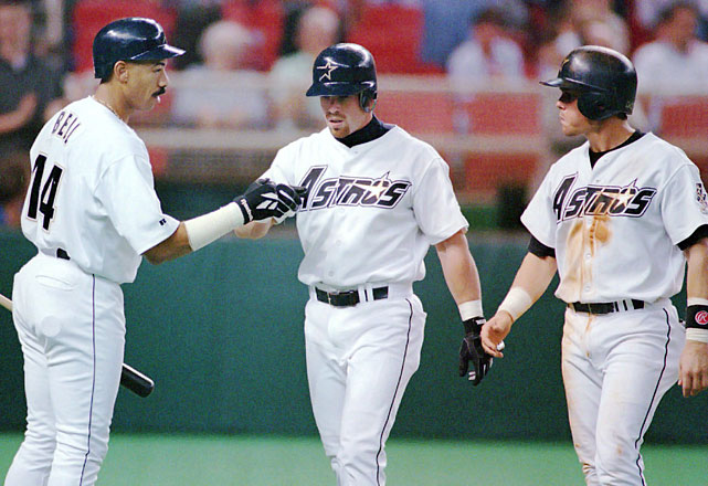 Although the exact makeup up the Houston Astros' Killer Bs changed over time, the nickname first appeared in 1996. Bagwell, Biggio, Bell and Berry beget Bagwell, Biggio, Bell and Berkman, who beget Bagwell, Biggio, Berkman and, for a season, Beltran. Regardless of the exact makeup, the Killer Bs intimidated opposing pitchers with Craig Biggio's knack for getting on base and roping doubles while Jeff Bagwell and Lance Berkman bombed homers.