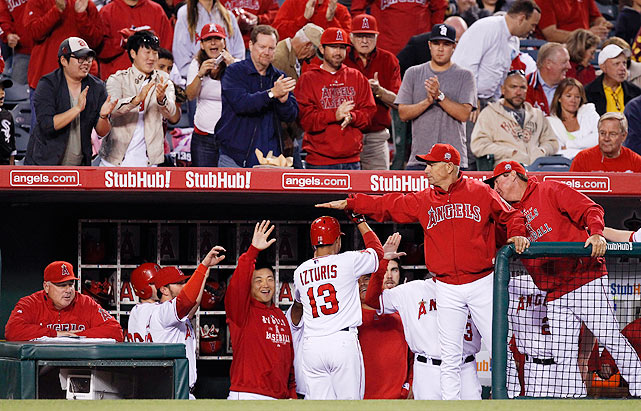 This is a well-run organization with a terrific owner (Arte Moreno) and good farm system that plays in a beautiful stadium in front of great crowds in great weather and with a $141 million payroll in a division with only three other teams. So what's not to like? The Angels' current skipper, Mike Scioscia, has the most job security in baseball: He is working on a 10-year contract that pays him through 2018.