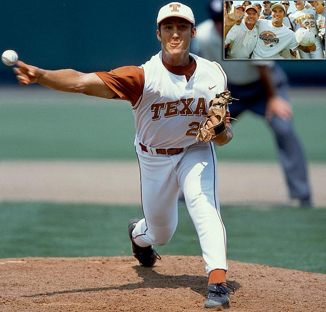 Before Huston Street became the Oakland A's closer, he led Texas to three CWS appearances in four years in Austin. In 2002, the last year the CWS played a one-game final, Street won the MOP award as Texas beat South Carolina 12-6.