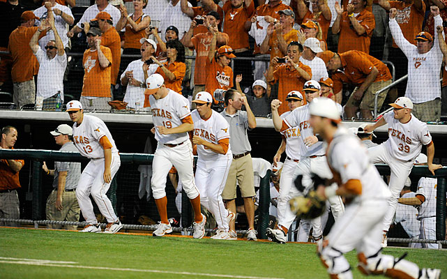 The Longhorns beat Arizona State to win the Austin Super Regional and advance to their record 34th College World Series. Texas, the No. 7 overall national seed, bounced back after losing the opener to the Sun Devils.
