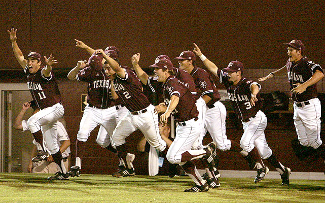 Texas A&M took two of three from Florida State in Tallahassee, including an 11-2 thrashing in Game 3, to grab the final College World Series berth and the Aggies' first since 1999.