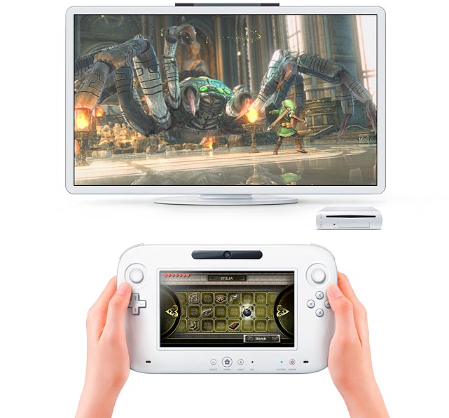 At June's Electronic Entertainment Expo (E3) in Los Angeles, Nintendo unveiled its' next generation console, the Wii U.  The Wii U's most striking feature is a cordless 6.2 inch touch-screen controller. The screen is able to show what's on your TV, but it can also show different views that work with the TV-screen view. In addition to a full array of standard buttons, a d-pad and two analog sticks, the controller also has a gyroscope, accelerometer, front-facing camera, a mic and speakers, and rumble support.   Nintendo hasn't confirmed if the unit will support two of the new controllers for local multiplayer gaming, but they have said up to four current Wii motion controllers will work with the Wii U. The new Wii U controller isn't a standalone handheld, but it can function with the Wii U console on, and your TV off.  Nintendo says the Wii U console is capable of equal or potentially better HD graphics than the Xbox 360 and PS3. If true, that bodes well for expanded third party game support as companies don't have to suffer graphical limitations with multiplatform titles.  Nintendo has not announced an official release date, and haven't set the cost of the hardware or what additional Wii U controllers will cost.