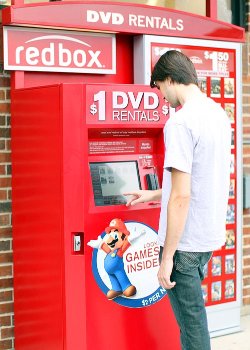 Kiosk distributor RedBox is the latest entrant into the video game rental marketplace. The company started carrying video game rentals this month at its' 21,000-plus locations nationwide. Consumers will be able to rent Xbox 360, PS3 and Wii games for $2 a day. RedBox has an iphone app that allows you to reserve titles (they also carry DVDs and Blu-Rays), before you pick them at their self-service kiosks.