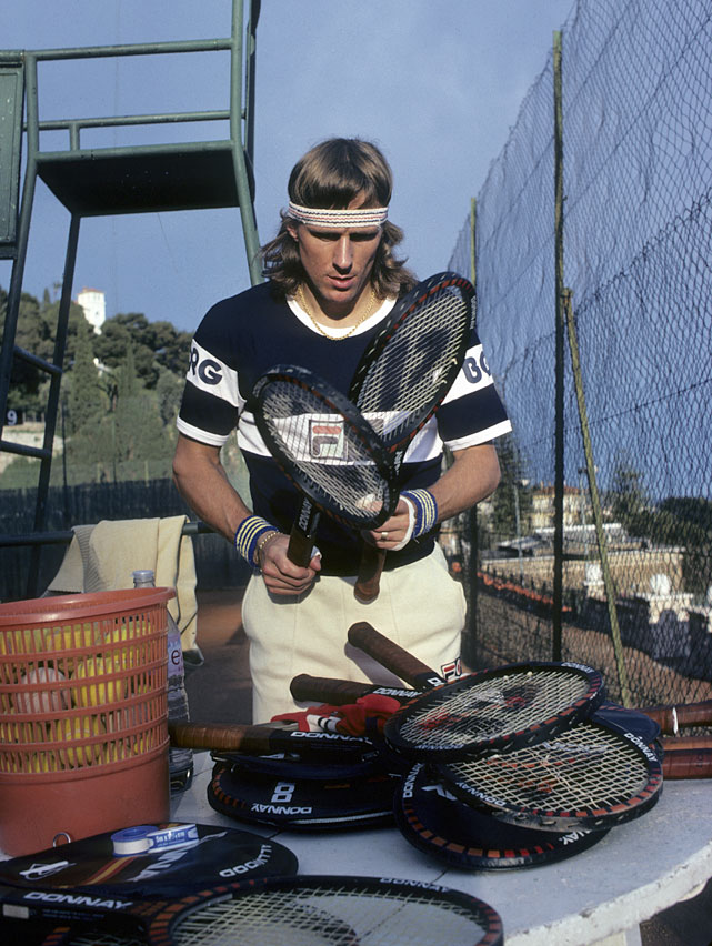 Borg during a 1980 photo shoot in Monte Carlo.
