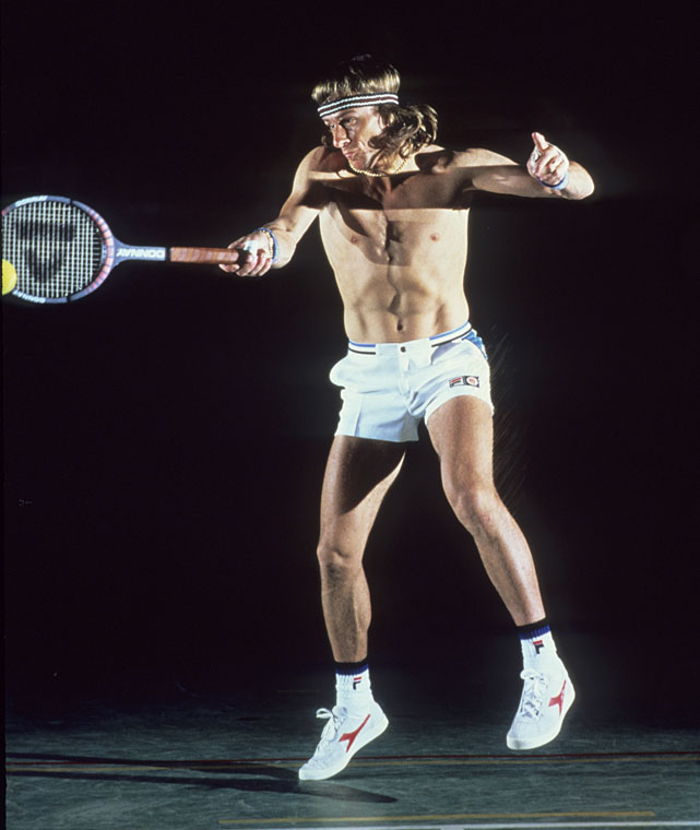 Borg in action during photo shoot for  Sports Illustrated .