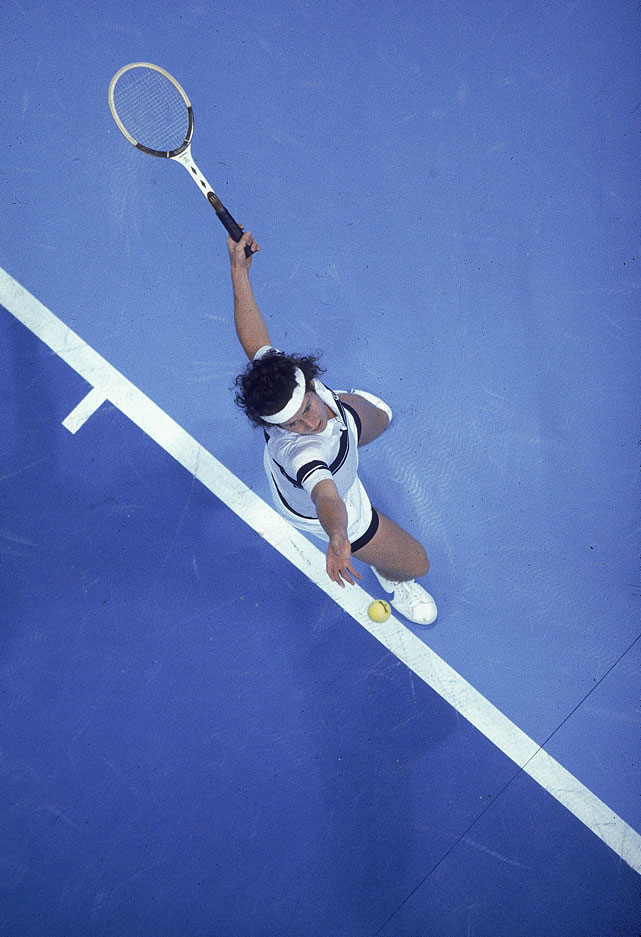 McEnroe serves during a match at Reunion Arena on May 3, 1980.