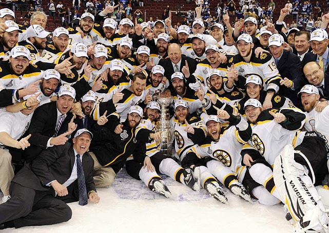 After winning the Stanley Cup, the Boston Bruins couldn't wait to spend some quality time with their new trophy.