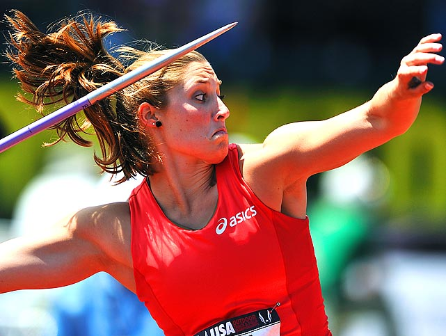 Kara Patterson repeated her 2009 and 2010 victories in the javelin with a winning throw of 194 feet, 8 inches.