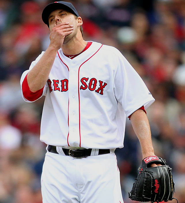 If you're counting, we're well over $30 million worth of Red Sox on this team. Lackey, the Sox' big free-agent signing last year, was considered a disappointment even before blowing up to an 8.01 ERA in seven starts, then heading to the DL this season. Lackey is on his way back to Boston from a rehab assignment, and while his velocity seems fine, he'll have to locate the control he had in his Angels days to be a contributor to the Sox rotation.
