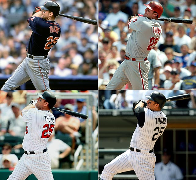 While Jim Thome may have spent time playing for five teams thus far in his career, it was with the team that drafted him -- the Indians -- that the lefty slugger made his name. Thome, who hit 334 home runs for Cleveland, entered the 2011 season just 11 dingers shy of 600.