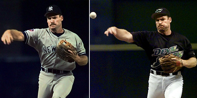 """With they Yankees down 12-4, Wade Boggs pitched a shutout eighth inning against the Angels, making history with 16 perfectly placed knuckleballs. The New York Times reports Boggs saying, ''It's something I've always wanted to do in my career and I never really had the opportunity... I was Phil Niekro and Charlie Hough all rolled into one."""" Chanting his name, fans of both teams at Anaheim Stadium gave Boggs a standing ovation. Two years later, in his 18th and final season, Boggs pitched the final inning and a third for the Devil Rays in a 17-1 loss to the Orioles. Boggs managed not to walk a single batter, but did allow one run on three hits."""