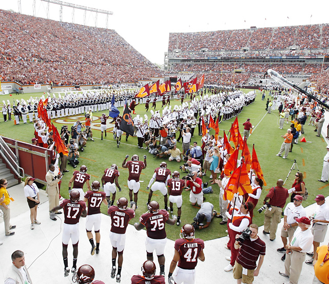 All-time record:  679-431-46   National titles:  0   Heisman Trophy winners:  0   Lane Stadium capacity:  66,233   Average recruiting ranking:  25.2