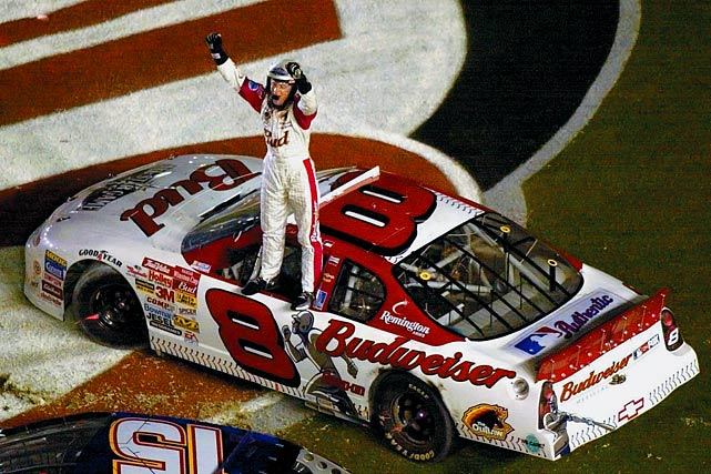 "Dale Earnhardt Jr.'s winless streak was at 107 and counting after he finished a disappointing 21st at Michigan on June 19. While Junior Nation waits for him to end the skid, here's a rundown of his top 12 career moments. Less than five months after Dale Earnhardt Sr. died in a crash during the Daytona 500, Junior won the Pepsi 400 in NASCAR's return to Daytona International Speedway. Junior led 116 of the 160 laps, taking the lead for good four laps from the end. Afterward, an emotional Junior said of his father, ""He was with me tonight."""
