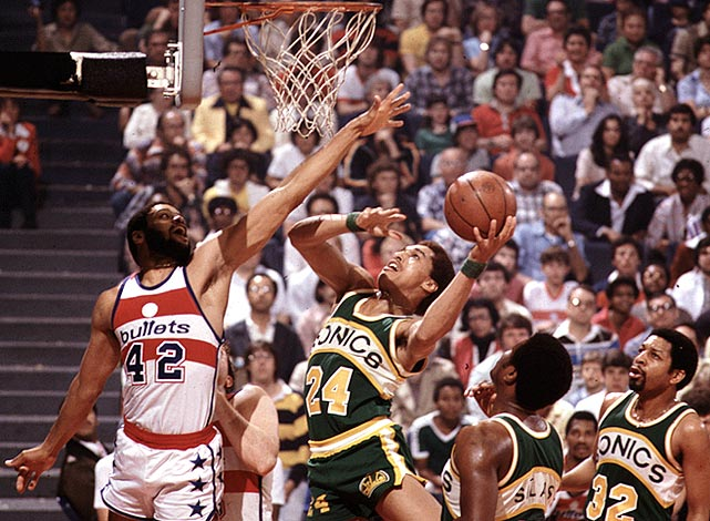 After losing to the Bullets the year before, Johnson and his SuperSonics were out for revenge in 1979. After Seattle dropped the first game, the crafty guard led Seattle to four straight wins and a title.