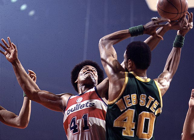 Unseld was not a typical Finals MVP as his best attributes didn't always show up on the stat sheet. He averaged nine points in the Washington Bullets' 4-3 win over the Seattle SuperSonics. It was Unseld's rebounding (11.7 per game), defense and hustle that set the tone for the championship run.